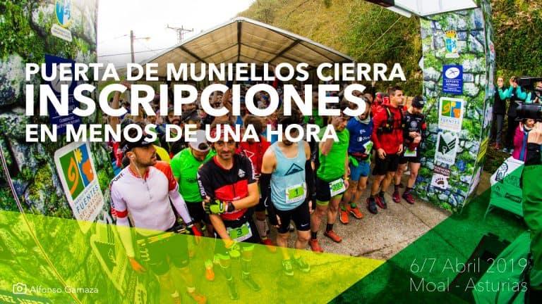 Cierre de Inscripciones Puerta de Muniellos 2019 Moal